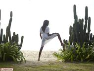 Tight Ebony Babe Valerie Cactus - pics 02