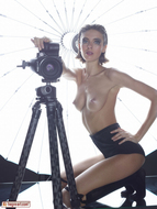 Oiled Slim Babe Photographer - pics 06