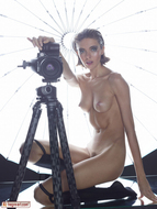 Oiled Slim Babe Photographer - pics 10