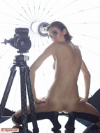 Oiled Slim Babe Photographer - pics 13