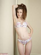 Sexy Emily Bloom Lingerie Strip - pics 04