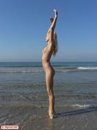 Busty Blonde Erica Nude Beach - pics 03