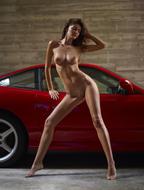 Melinda Posing Hot by Ferrari - pics 01