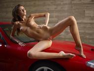 Melinda Posing Hot by Ferrari - pics 04