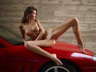 Melinda Posing Hot by Ferrari - pics 05