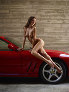 Melinda Posing Hot by Ferrari - pics 06
