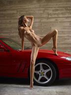Melinda Posing Hot by Ferrari - pics 08
