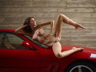 Melinda Posing Hot by Ferrari - pics 09