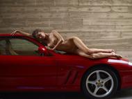 Melinda Posing Hot by Ferrari - pics 10
