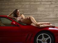 Melinda Posing Hot by Ferrari - pics 11