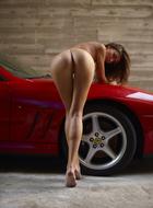 Melinda Posing Hot by Ferrari - pics 12