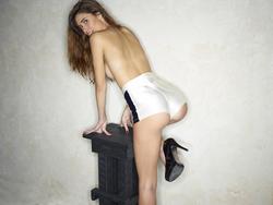 Victoria R in Shiny Disco Shorts - pics 03
