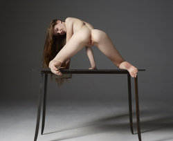 Emily Bloom Hot Pussy on the Table - pics 02