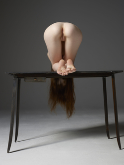 Emily Bloom Hot Pussy on the Table - pics 03