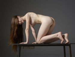 Emily Bloom Hot Pussy on the Table - pics 04