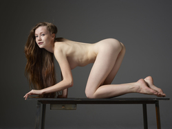 Emily Bloom Hot Pussy on the Table - pics 05