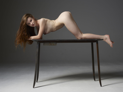 Emily Bloom Hot Pussy on the Table - pics 06