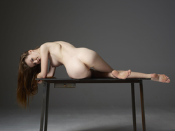 Emily Bloom Hot Pussy on the Table - pics 08