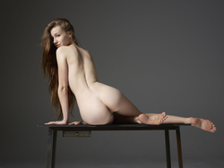 Emily Bloom Hot Pussy on the Table - pics 09