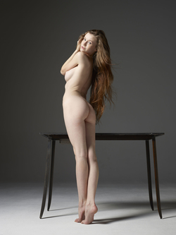 Emily Bloom Hot Pussy on the Table - pics 16