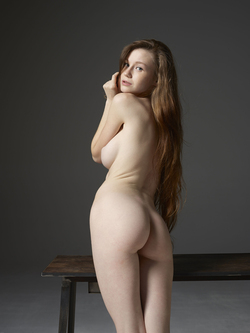 Emily Bloom Hot Pussy on the Table - pics 17