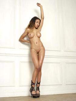 Beautiful Ebony Tyra Round Boobs - pics 08