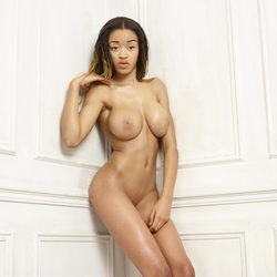 Beautiful Ebony Tyra Round Boobs - pics 09