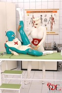 Sexy Latex Babes Go Wild in Clinic - pics 07