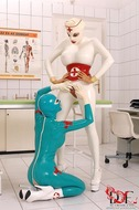 Sexy Latex Babes Go Wild in Clinic - pics 09