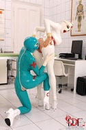Sexy Latex Babes Go Wild in Clinic - pics 11