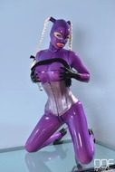 Latex Lucy Fucks Herself Wildly - pics 02
