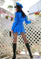 Misuzu Hiroze Blue Latex Officer - pics 04