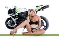 tattooed Blonde on a Motorbike - pics 08