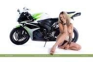 tattooed Blonde on a Motorbike - pics 09