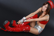 Japanese Angel Sexy Red Boots - pics 10
