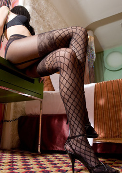 Leggy Asian in Designed Pantyhose - pics 00