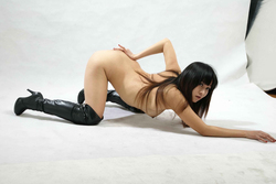 Petite Japanese Babe in Long Boots - pics 12