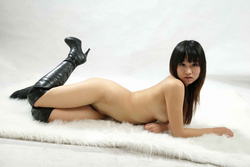 Petite Japanese Babe in Long Boots - pics 17