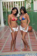 2 Busty Latinas Hot Bikini Babes - pics 00