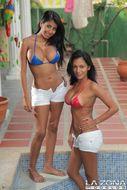 2 Busty Latinas Hot Bikini Babes - pics 01