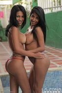 2 Busty Latinas Hot Bikini Babes - pics 13