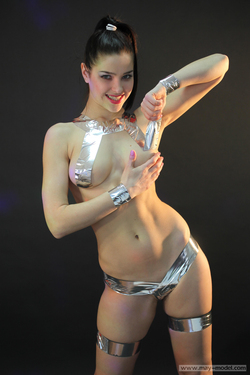 Naughty Teenager with Silver Tapes - pics 12