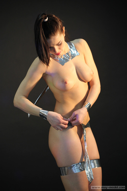 Naughty Teenager with Silver Tapes - pics 14