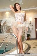 Horny Ballerina Posing by the Pool - pics 00