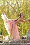 Sexy Big Boobed Sofi Pink Dress - pics 01