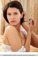 Suzanna A Sexy White Lingerie - pics 17