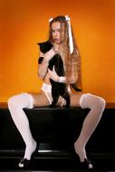 Sexy Milena D in White Lingerie - pics 05