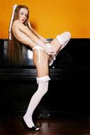 Sexy Milena D in White Lingerie - pics 09