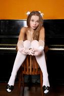 Sexy Milena D in White Lingerie - pics 12