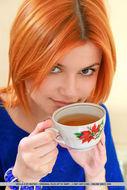 Cute Redhead Violla A Perky Tits - pics 00